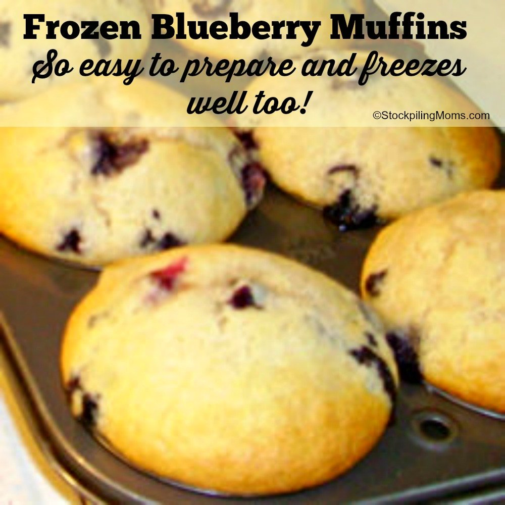 Frozen Blueberry Muffins - So easy to prepare and freezes well too!