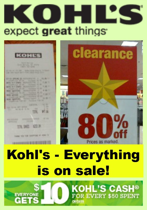 Kohl's - Everything is on sale!