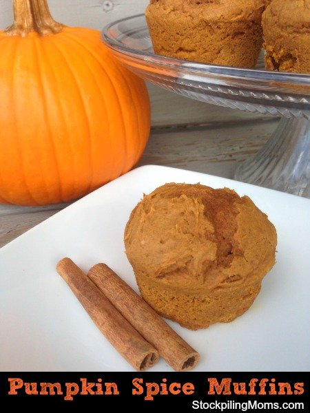 There are only 2 ingredients and 3 Weight Watchers points in these delicious Pumpkin Spice Muffins