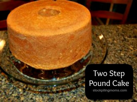 This two step pound cake is simply delicious! Perfect for any holiday or celebration.
