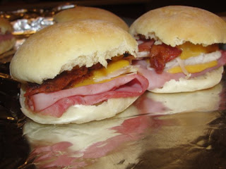 Hot Ham, Cheese and More Dinner - These Sister Schubert Sister Breakfast Sandwiches are a favorite at my house!