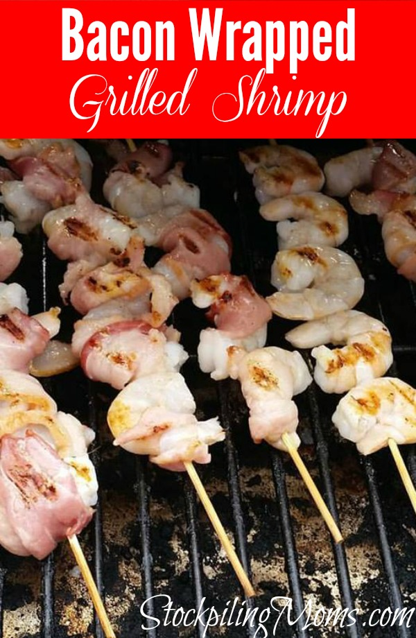 Bacon Wrapped Grilled Shrimp is a great Whole 30 compliant meal!