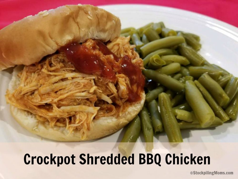 Crockpot Shredded BBQ Chicken is agreat easy freeze recipe for a busy day.