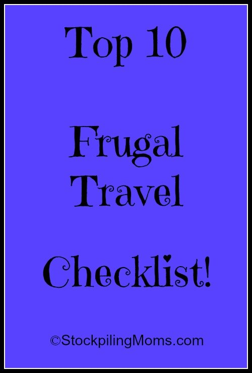 Frugal Travel Checklist