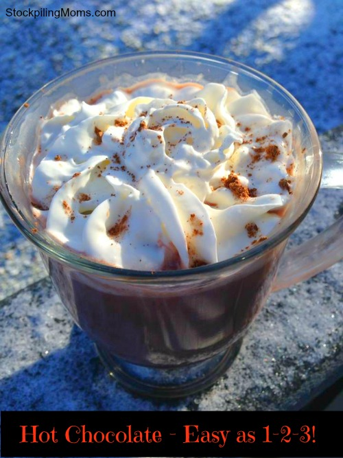 Hot Chocolate - Easy as 1-2-3! Made with JELLO instant pudding!