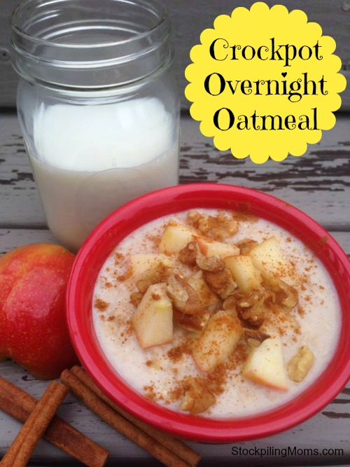 Crockpot overnight oatmeal is an easy breakfast recipe that is perfect for company!
