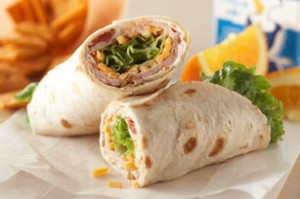 Turkey Tortilla Wrap is an easy lunch on the go!