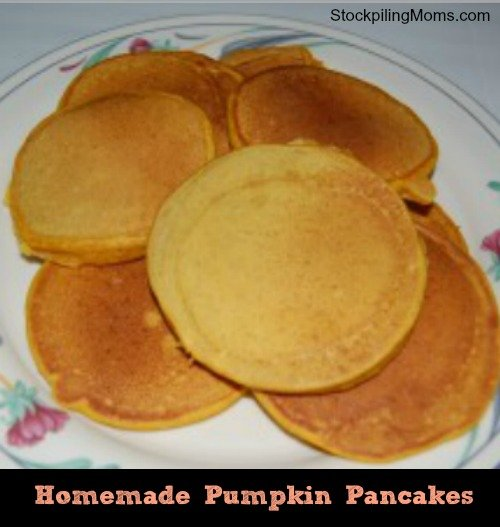 Easy Pumpkin Pancakes - Freezer Recipe