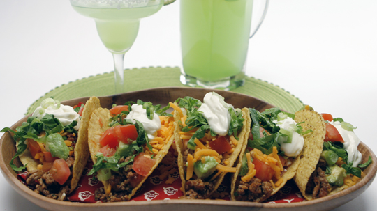 Turkey Tacos are so easy to make and perfect for Cinco de Mayo!  I love that they are a healthy choice too!