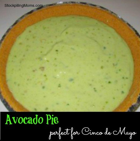 Avocado Pie is packed full of healthy fats and tastes delicious. Perfect for Cinco de Mayo!