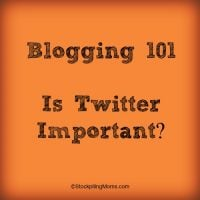 Blogging 101 - Is Twitter Important