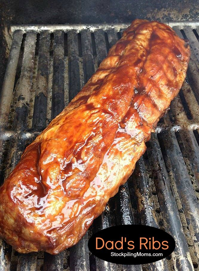 Dad's Ribs are out of this world AMAZING! Perfect to make on Father's Day