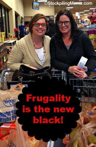 Frugality is the new black! It is cool to use coupons and save money!
