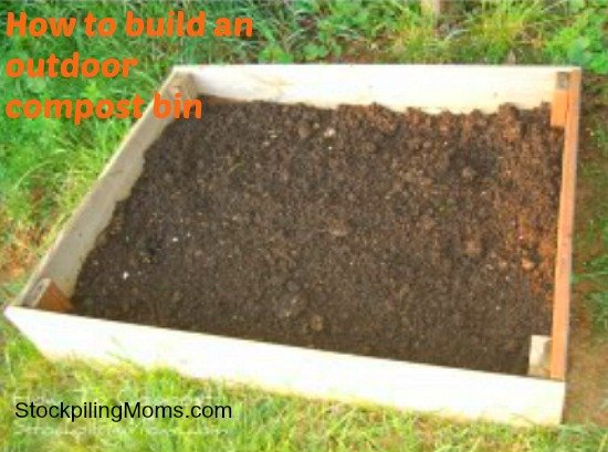 How to build an outdoor compost bin. This is perfect for anyone who gardens.