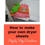 How to make your own dryer sheets