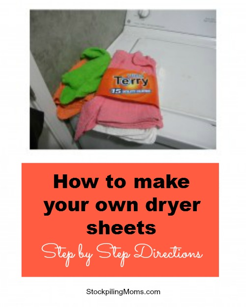 How to make your own dryer sheets - Step by Step Directions