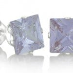 Free Square Lavender Alexandrite Stud Earrings!