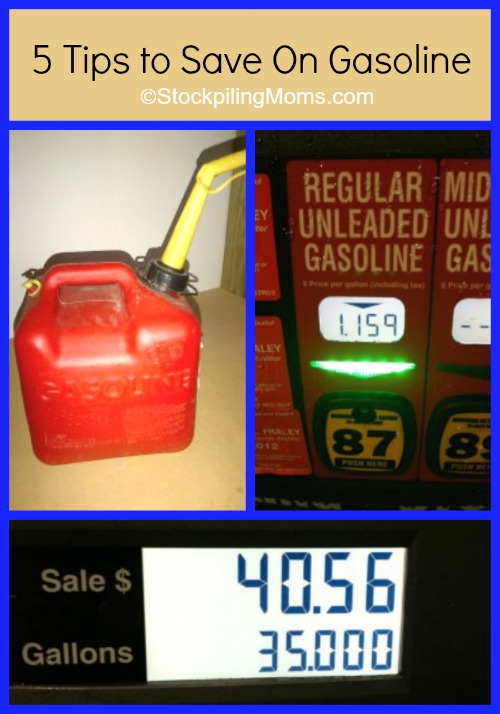5 Tips to Save On Gasoline - This is really helpful when you are planning a road trip!