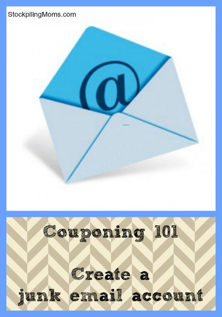 Stockpiling 101 – Create a junk email account