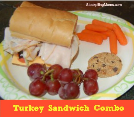 Turkey Sandwich Combo is perfect for back-to-school!