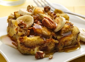 Bananas Foster French Toast is an easy prep ahead recipe.
