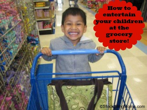 How to entertain your children at the grocery store!