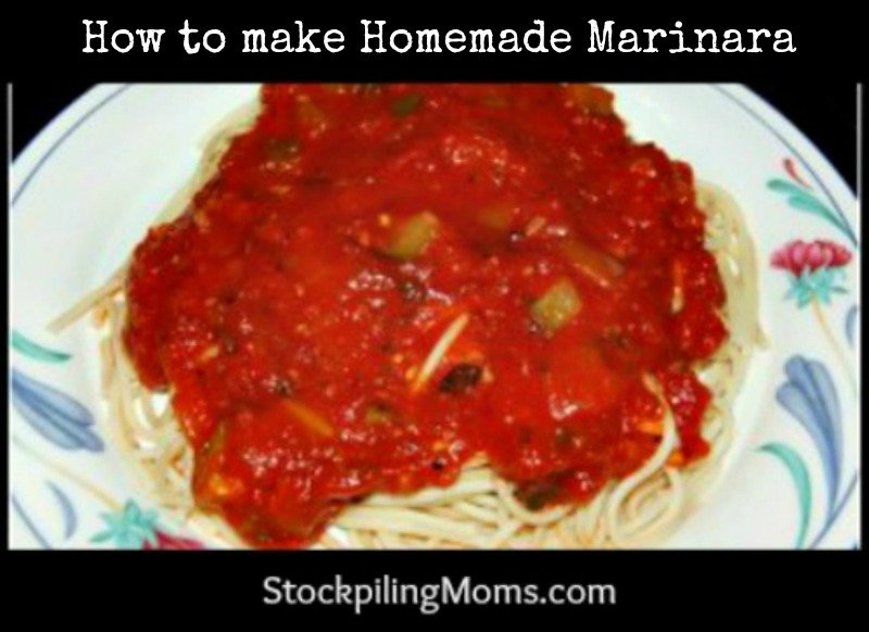 How to make homemade Marinara - A great money saver!