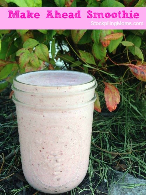 Make Ahead Smoothie Recipe saves time in the morning!