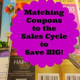 Stockpiling 101 – Matching your coupons