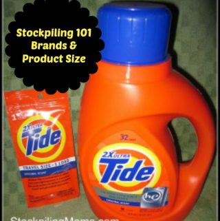 Stockpiling 101 – Brands & Product Size