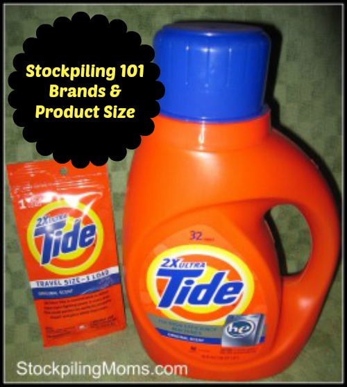 Stockpiling 101 - Brands & Product Size