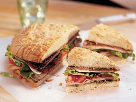 This Layered Italian Sandwich is a great recipe for Thanksgiving leftovers.