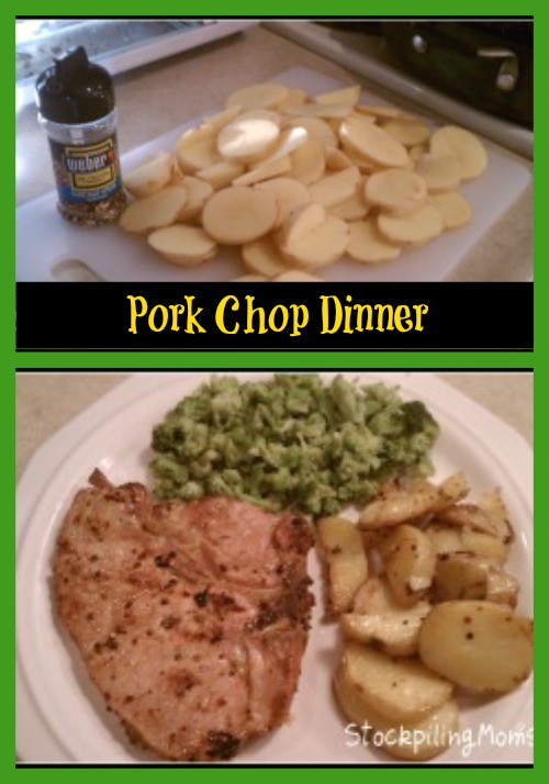 Shelley's Pork Chop Dinner is easy to prepare and perfect for busy weeknights!