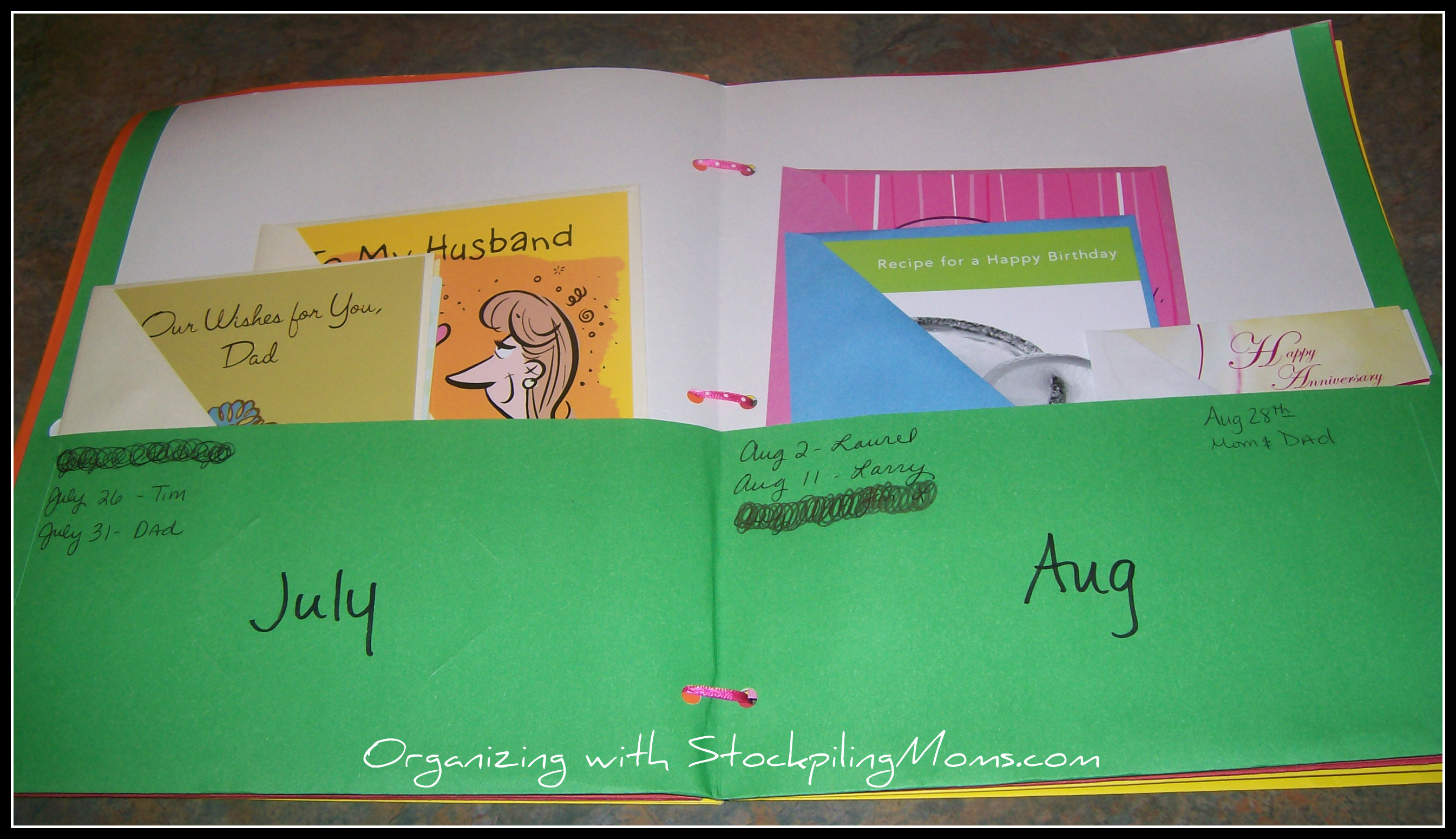 How to organize your greeting cards m4hsunfo