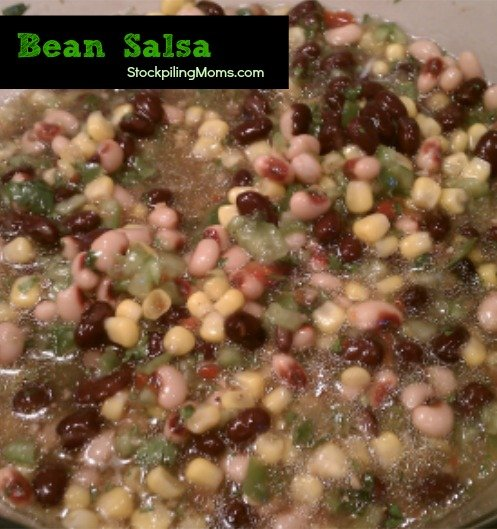 Bean Salsa...aka Cowboy Caviar is so easy to make and perfect for game day!
