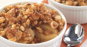 This caramel apple crisp is easy to make and tastes AMAZING! Perfect for fall!
