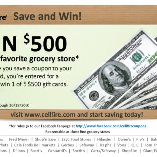 Cellfire Save and Win!