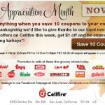 Cellfire:: Load 10 couopns – Get $1.00 off coupon!