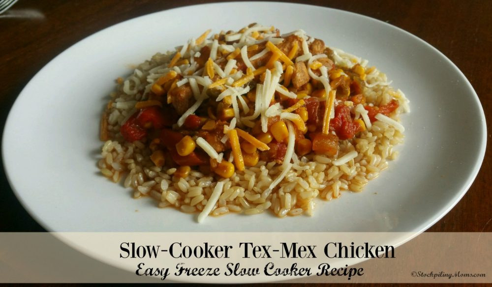 Slow-Cooker Tex-Mex Chicken is a delicious freezer meal!