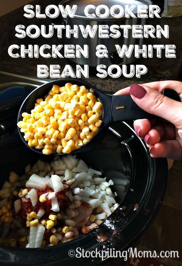 Slow Cooker Southwestern Chicken & White Bean Soup