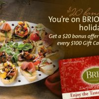 Brios Holiday Gift Card Deal 2012
