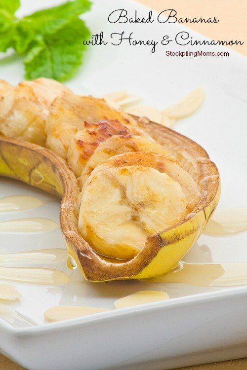 Baked Bananas with Honey and Cinnamon