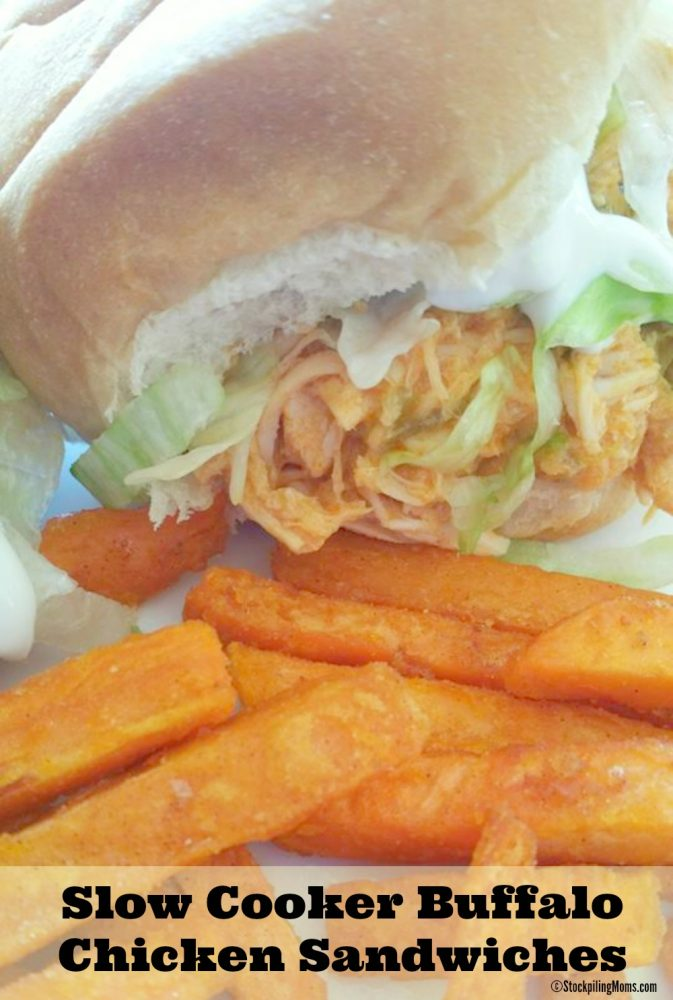 Slow Cooker Buffalo Chicken Sandwiches is perfect for game day!