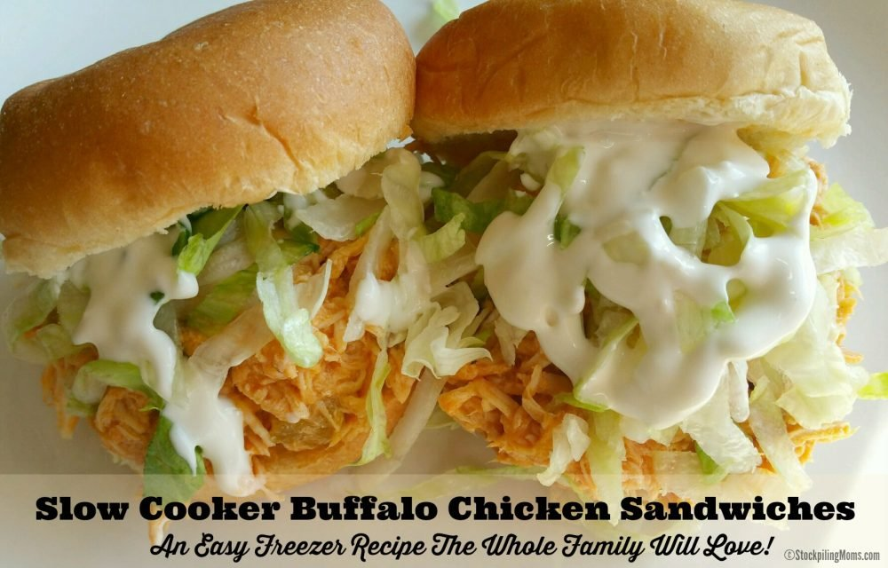 Slow Cooker Buffalo Chicken Sandwiches are an easy freezer recipe the whole family will love!