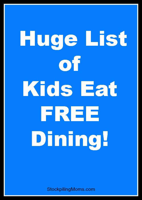 kids eat free dining