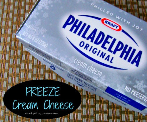 Freeze Cream Cheese 2