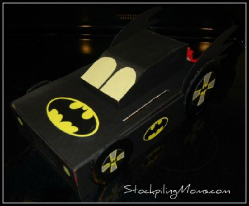 How to make a Valentine Batman Box. This hands down was my sons all time favorite card box!