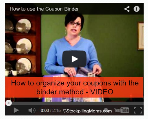 How to organize your coupons with the binder method - VIDEO