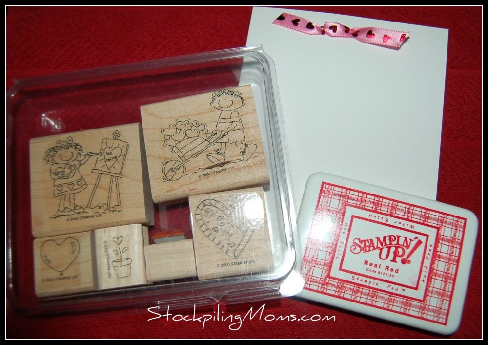 Hand stamping can be a very frugal way to create one of kind cards for everyone on your list.