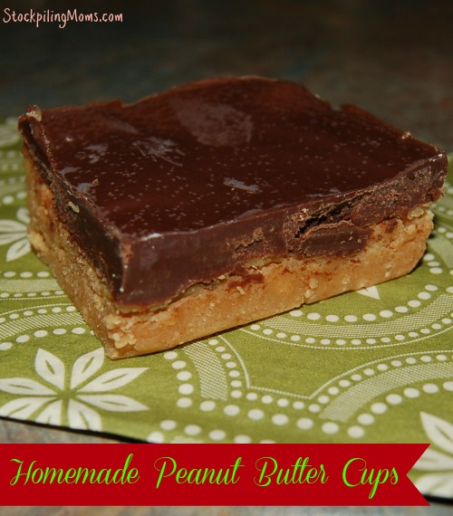 Homemade Peanut Butter Cups taste AMAZING! So easy to make this treat that everyone will enjoy!